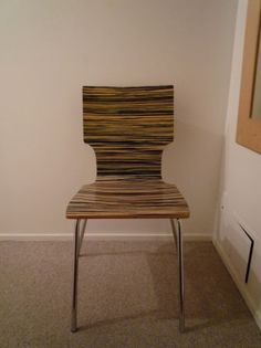 West Elm Zebra Wood Chair -  $45