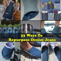 33 Ways To Repurpose Denim Jeans Denim jeans have a lot of character and style, even if they're worn out or outgrown. You can transform that style into som