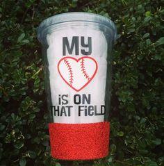 My Heart is On That Field-Glitter Tumbler