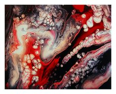 New Original One of a Kind Abstract Acrylic Fluid by ANEWDAWNART, $50.00