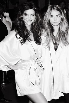 Cara Delevingne & Barbara Palvin | Victoria's Secret Fashion Show 2012
