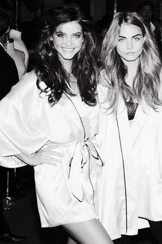 Cara Delevingne & Barbara Palvin   Victoria's Secret Fashion Show 2012