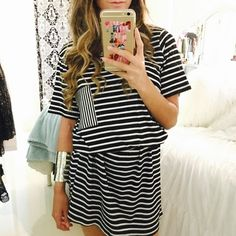 Black & White Striped T-Shirt Dress Black & White Striped T-Shirt Dress. Brand new condition! Also available in Grey & White, if interested let me know in comments to make a separate listing. Dresses Midi