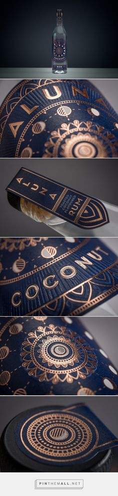 Aluna Coconut Rum Packaging by Analogue | Fivestar Branding Agency – Design and Branding Agency & Curated Inspiration Gallery #coconutrum #packaging #packagedesign #packaginginspiration #branding #design #behance #dribbble #pinterest #fivestarbranding