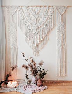 Wedding Arch Rustic, Bohemian Wedding Decorations, Bohemian Decor, Bohemian Design, Boho Backdrop, Large Curtains, Macrame Curtain, Large Macrame Wall Hanging, Macrame Design