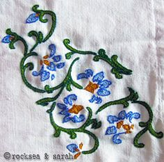 Zalakdozi embroidery tutorial - I NEED try try this. You pretty much only use chain stitches.