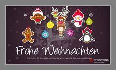 Lebkuchen, Rudolph, Pinguin, Vögelchen oder doch lieber Schneemann? Wir haben uns für alle entschieden und präsentieren Ihnen diese lustigen Weihnachtsvorlagen für PowerPoint - kostenlos auf unserer Website: http://www.presentationload.de/weihnachtsvorlagen-animiert.html