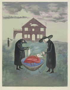 Leonora Carrington, Bird Bath (Baño de pájaros) (1974) surrealizm