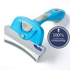 Best price on Deshedding Tool for Dogs (& Cats) - Long or Short Hair - Quick, easy and safe removal of up to 95% excess hair without damaging your pet's skin - Unique self cleaning 4 inch curved stainless steel comb - Bonus 2 inch comb - ZonPets Deshedder Pro //   See details here…