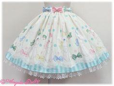 Marshmallow Bunny Skirt - Ivory; Angelic Pretty USA