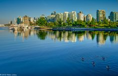 The Stanley Park Marina in Vancouver, Canada