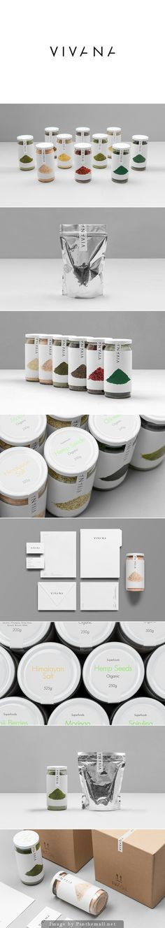 Vivana beautiful nutritional food products packaging curated by Packaging Diva…