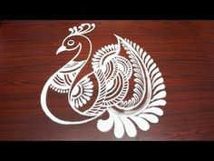 Peacock rangoli ideas art without dots Indian Rangoli Designs, Rangoli Designs Latest, Simple Rangoli Designs Images, Rangoli Border Designs, Rangoli Patterns, Rangoli Ideas, Rangoli Designs With Dots, Beautiful Rangoli Designs, Easy Rangoli