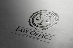Law Office Logo by It's a Small World on @creativemarket fully editable template #logo for download Download link: https://creativemarket.com/Xelm/630061-Law-Office-Logo
