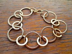 circle bracelet with S clasp hand made in USA 14002 by venicemama, $85.00
