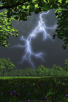 .lightning strikes