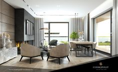 Great living Design. Space and comfort in one of Cosmopolit's Apartment. Living Room Designs, Architecture Design, Conference Room, Interior Design, Space, Modern, Table, Furniture, Home Decor