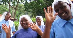 One of our favorite photos of Catholic Sisters in the field.