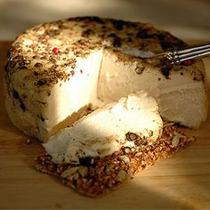 Vegan cheese can be amazing. Made from nut milk, you will be pleasantly surprised at how good it is.
