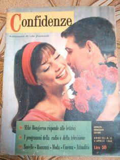 rivista confidenze settimanale di vita femminile 1960 n.13