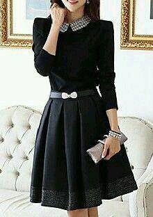 Falda larga con tablones