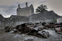 Oradour-sur-Glane, France  This village was essentially killed off by the Germans in 1944 where they killed 642 of the inhabitants. It is now a memorial to commemorate those who have been killed.