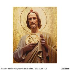St Jude Thaddeus, patron saint of the impossible. Wood Wall Art