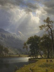 Albert Bierstadt (American, 1830-1902) 'Yosemite Valley'