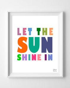 Let The Sun Shine In Print Inspirational Quote by InkistPrints, $11.95 - Shipping Worldwide! [Click Photo for Details]