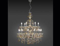 Nella Vetrina Italamp Romantic 165/12 6 Gold Teak Swarovski Crystal Chandelier Handmade in Crystal Swarovski Elements and Metal