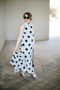 Polka Dot Maxi Dress | Maggie's Style | Polished Closets