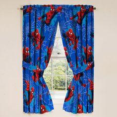 """Marvel Ultimate Spiderman Spider-Man Panels Drapes Curtains, Set of 42 x 63 each"" for sale online Spiderman Kids, Spiderman Spider, Spiderman Marvel, Marvel Marvel, Avengers Comics, Amazing Spiderman, Kids Bedroom, Bedroom Decor, Bedroom Ideas"