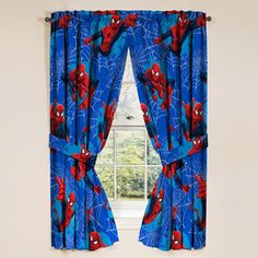 Spiderman Drape Panels, Set of 2