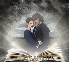 Outlander book with Jamie and Claire by Sassenach616