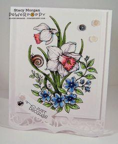 Dancing with Daffodils Digital Stamp Set