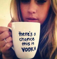 It's probably vodka.