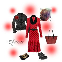 Red & Black Polka Dot by estes9011 on Polyvore featuring polyvore, fashion, style, Dolce&Gabbana, Merona, Accessorize, Pinup Couture, FFI Fatta Fabbrica Italiana, Topshop and Temperley London