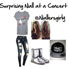 """""""Surprising Niall at a concert"""" by niallersgirly on Polyvore"""