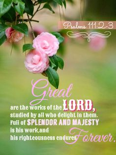 Psalms 111:2-3