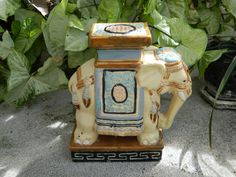 This vintage Asian elephant statue/plant Holder just sold out of my Etsy vintage shop! Check out more treasures @ https://www.MaiAloha.etsy.com/shop