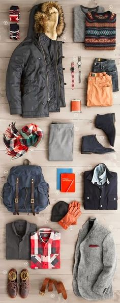 Gentleman fashions inspired by the UK! Packing travel and plan well