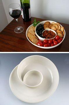 Porcelain Whirl Olive Dish