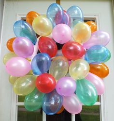 Balloon wreath by My Mommys Place, via Flickr