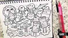 Beach Stuff - Hello Doodles - Easy and Kawaii Drawings by Garbi KW