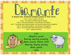 Diamante Poem Examples | Poetry - Mrs. Warner's 4th Grade Classroom