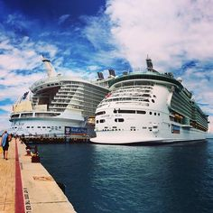 Twice as nice. Allure of the Seas and Freedom of the Seas in Cozumel.