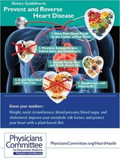 Eating habits and other lifestyle factors play a large role in the risk of heart disease, but heart disease can usually be prevented and even reversed with a plant-based diet. Heart Diet, Heart Healthy Diet, Heart Healthy Recipes, Healthy Foods, Healthy Options, Healthy Tips, Peripheral Artery Disease, Cardiovascular Disease, Kidney Disease