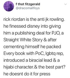 YES RICK>> wow didn't think of that. As opposed to Hollywood scraping all her gender natural stuff, barely showing female characters other than Hermione, and practically ignoring poc, even ones we'd already been introduced to, like the Patil twins, and the Black Lavender.