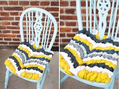 """Friendship bracelet"" chair cushion"