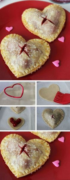 Valentine's Day Mini Cherry Heart Pies – The Perfect Handmade Valentine's Day Dessert! They're easier to make than you might think!